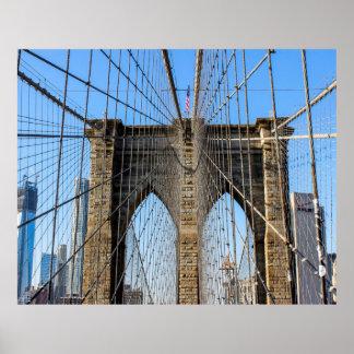 Photo of the Brooklyn Bridge in NYC Print