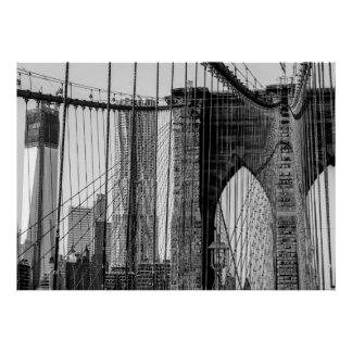 Photo of the Brooklyn Bridge in NYC Posters