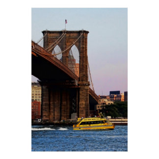 Photo of the Brooklyn Bridge in NYC Poster