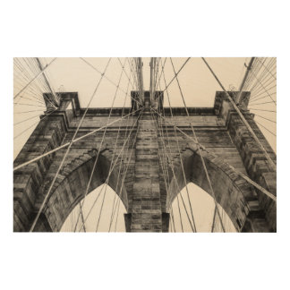 Photo of the Brooklyn Bridge in NYC Wood Print