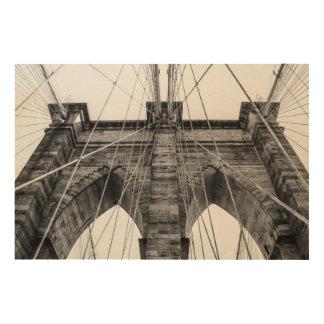 Photo of the Brooklyn Bridge in NYC Wood Print