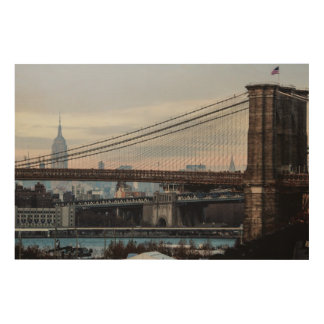 Photo of the Brooklyn Bridge in NYC Wood Canvases