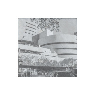 Photo of the Guggenheim Museum in New York City Stone Magnet