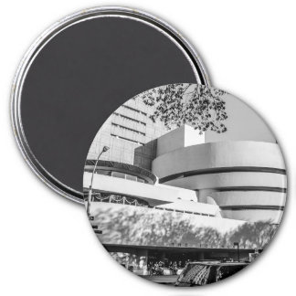 Photo of the Guggenheim Museum in New York City 3 Inch Round Magnet