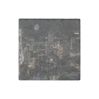 Photo of the New York City Night Skyline Landscape Stone Magnet