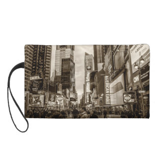 Photo of Times Square in New York City Wristlet Clutches