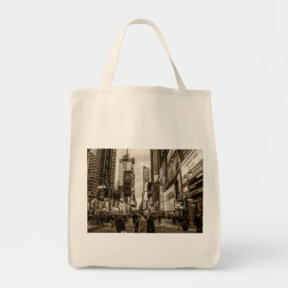 Photo of Times Square in New York City Canvas Bags
