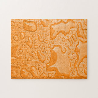 Photo of Water Droplets on Orange Painted Wood Puzzles