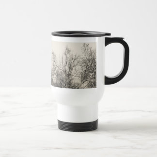 Photo of Winter Fog in Central Park NYC Stainless Steel Travel Mug