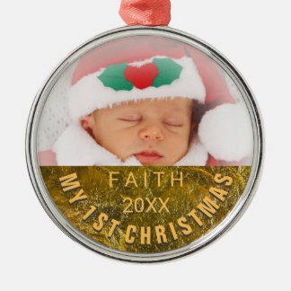 Photo Ornament | Baby 1st Christmas