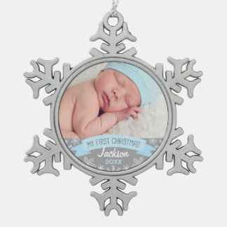 Photo Ornament | Baby Boy First Christmas
