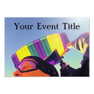 photo perfect skydiver 9 cm x 13 cm invitation card