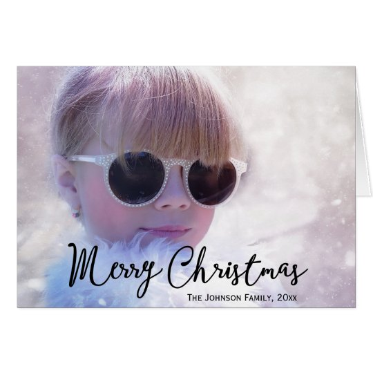 Photo Personalised Christmas Greeting Cards