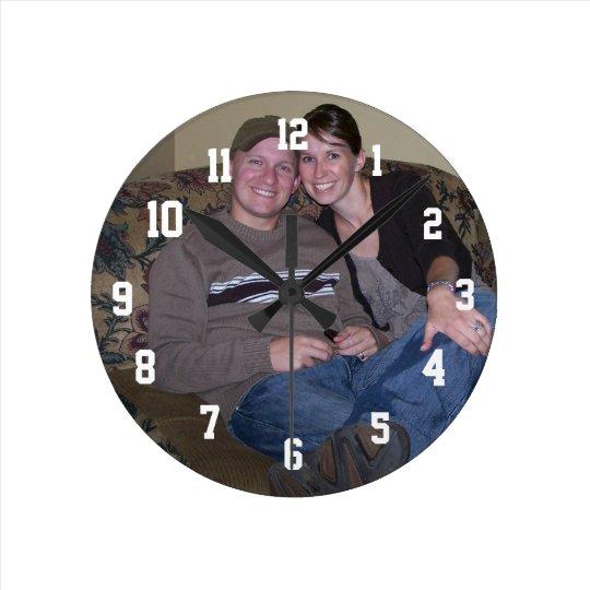 Photo Personalised Medium Round Wall Clock