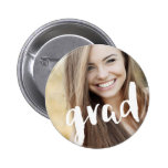 Photo Personalised Modern Grad Celebration 6 Cm Round Badge