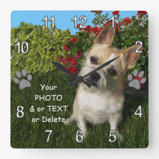 Photo Personalized Pet Gift Ideas for Pet Lovers Clocks