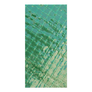 Photo picture of green plastic cover. photo card