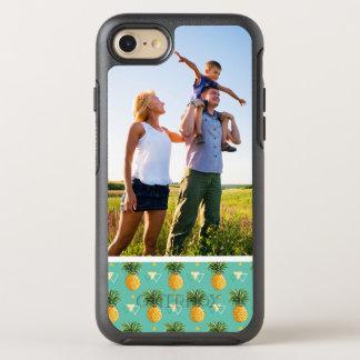 Photo Pineapples On Geometric Pattern OtterBox Symmetry iPhone 8/7 Case