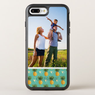 Photo Pineapples On Geometric Pattern OtterBox Symmetry iPhone 8 Plus/7 Plus Case