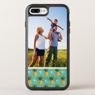 Photo Pineapples On Geometric Pattern OtterBox Symmetry iPhone 8 Plus/7 Plus Case