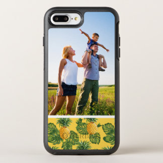 Photo Pineapples & Tropical Leaves On Gold OtterBox Symmetry iPhone 7 Plus Case
