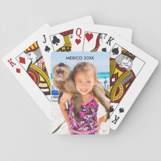 Photo Place and Date - Playing Cards