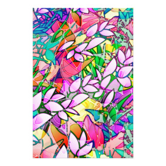 Photo Print Grunge Art Floral Abstract
