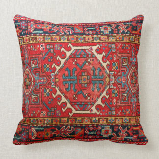 Photo print: of Antique Oriental Turkish Carpet Throw Pillow