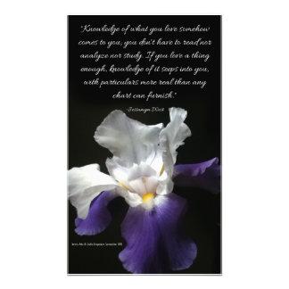 Photo Print of Purple Iris Flower with quote.