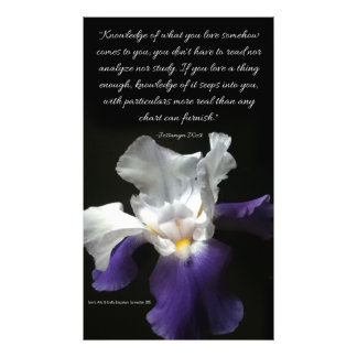 Photo Print of Purple Iris Flower with quote.