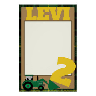PHOTO PROP FRAME - TRACTOR THEME POSTER