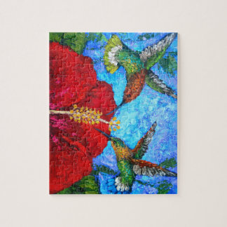 Photo Puzzle With Hummingbirds Painting
