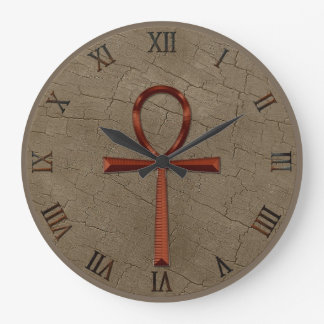 Photo Realistic Wood-effect & Copper-look Ankh Clock