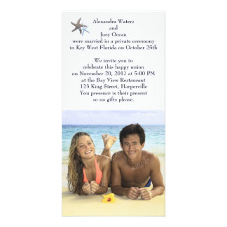 Photo Reception Only Newlyweds Announcement Picture Card
