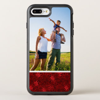 Photo Red maple leaves pattern OtterBox Symmetry iPhone 8 Plus/7 Plus Case