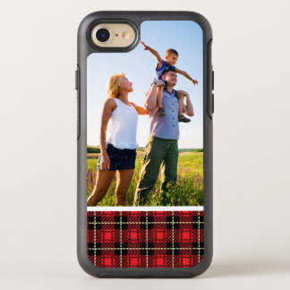 Photo Red Plaid Background OtterBox Symmetry iPhone 8/7 Case