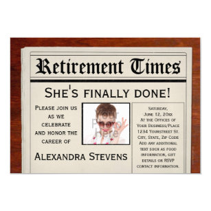funny retirement invitations announcements zazzle uk
