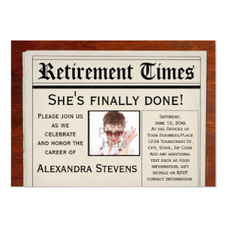 Photo Retirement Party Newspaper Invitation