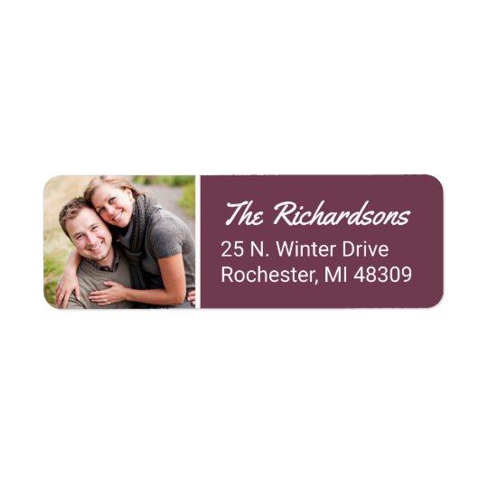Photo Return Address | Wine Return Address Label