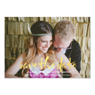 Photo Save the Date Card 13 Cm X 18 Cm Invitation Card