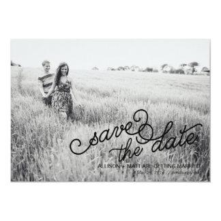 Photo Save the Date Card 13 Cm X 18 Cm Invitation Card