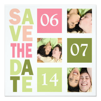 "Photo Save The Date Cards 5.25"" Square Invitation Card"