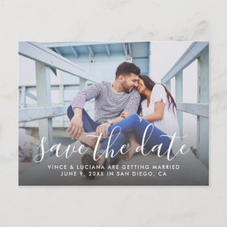 Photo Save the Date | Hand Lettered Script