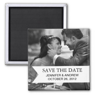 Photo Save the Date Magnet (black and white)
