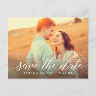 Photo Save the Date | Modern Calligraphy