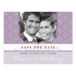PHOTO SAVE THE DATE :: pictureframe elegance 2 Postcard