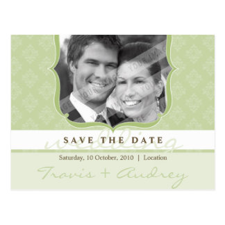 PHOTO SAVE THE DATE :: pictureframe elegance 5 Postcard