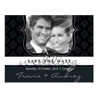 PHOTO SAVE THE DATE :: pictureframe elegance 8 Postcard