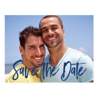 Photo Save The Date Postcards For Gay Wedding
