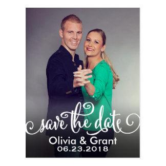 Photo Save the Date | Script Writing Postcard